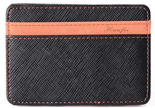 Portafoglio magico in simili cuoio - magic wallet credit card holder - porta moneta (arancione)