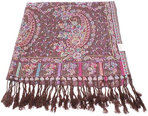 Kuldip Jamawar / Schal, aus Pashmina-Tuch, 2-lagig, wendbar /doppelseitig Gr. Einheitsgröße, 2000231 (Reversible Schal Stripe)