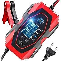 YDBAO Chargeur de Batterie Auto Intelligent Rapide 6A 12V/24V Chargeur de Batterie Voitures Intelligent Portable LCD…
