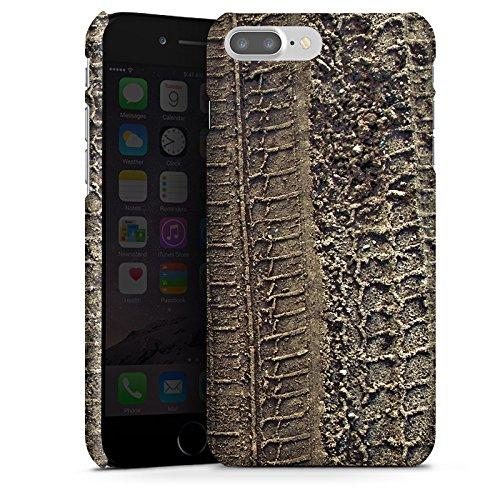 Apple iPhone X Silikon Hülle Case Schutzhülle Reifenspuren Spuren Abdruck Premium Case glänzend