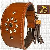 Woza Premium WINDHUND Halsband 6,8/47CM CALLIRRHOE Vollleder Rindleder Nappa Handmade Greyhound Collar