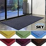 Paillasson d'entrée casa pura Sky 100% polyamide, antidérapant | absorbant, résistant | 7 couleurs, 2 tailles | gris, 50x85cm