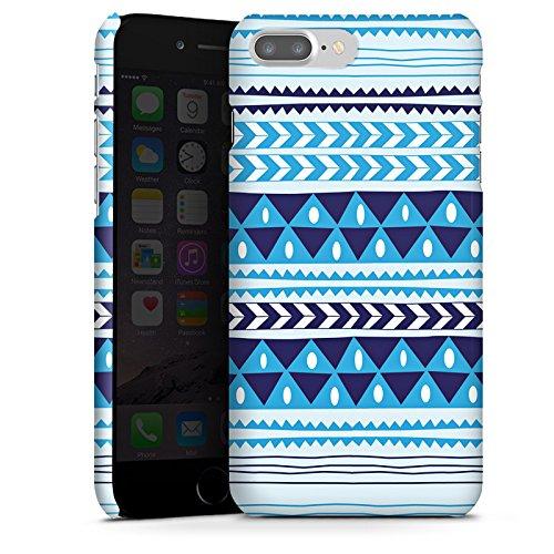 Apple iPhone X Silikon Hülle Case Schutzhülle Dreiecke Blau Muster Premium Case glänzend