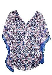 URBAN TRENDZ 2363 Printed Kimono Topper