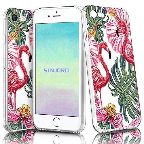 """Sinjoro iPhone 8/ iPhone 7 Hülle, Blossom Blühen Blumen Flower Muster Transparent Weiche Silikon Hülle Durchsichtig Schutzhülle für Apple iPhone 8/ iPhone 7 4,7\"""" (Flamingo#6)"""