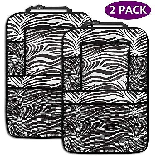 2er Pack Autositz Veranstalter gestreift Zebra Animal Print Natur Wildlife inspiriert Mode einfache Illustration dekorative Rücksitz Auto Veranstalter Trittmatten (Cami Animal-print)