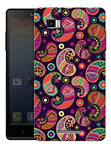 "Humor Gang Beautiful Indian Ethnic Traditional Pattern Printed Designer Mobile Back Cover For ""Lenovo Vibe P1"" (3D, Matte Finish, Premium Quality, Protective Snap On Slim Hard Phone Case, Multi Color)"