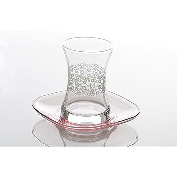 Cay Bardagi-Set Türkische Teegläser Teeglas Teetasse Glastasse Glas 6-tlg
