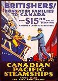 Vintage Travel Kanada für britishers, bringen Sie Ihre Familien. Nur $15Dritte Klasse Fare C1929250gsm, Hochglanz, A3, vervielfältigtes Poster