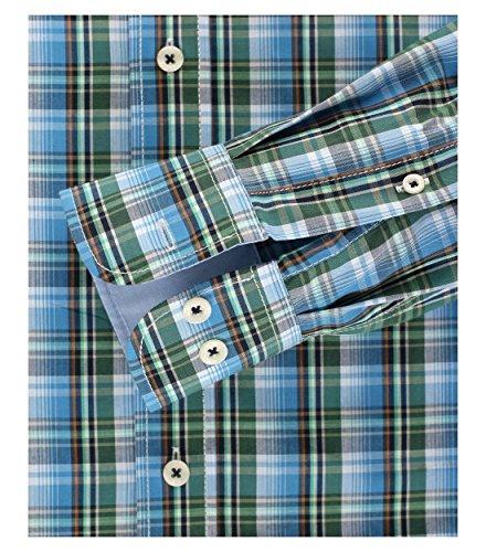 Casa Moda - Comfort Fit - Herren langarm Hemd mit Button-Down Kragen (462394300) Grün (300)