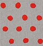 Graues Wachstuch mit orange Punkten von Etsuko Furuya