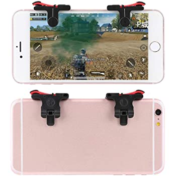 GADGETS WRAP Mobile Phone Gaming Trigger for Pubg ROS Fire Shooter Controller Button Aim Key L1 R1 (Red)