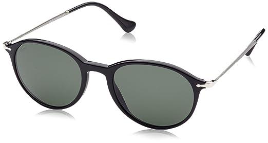 Persol Unisex Sonnenbrille PO3125S, Gr. Small (Herstellergröße: 49), Schwarz (Black/Grey 95/31)