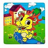 JIUZHOU Enfants Loisirs Jouets, Puzzle en Bois 20 pièces pour Les Enfants de 1 à 5...