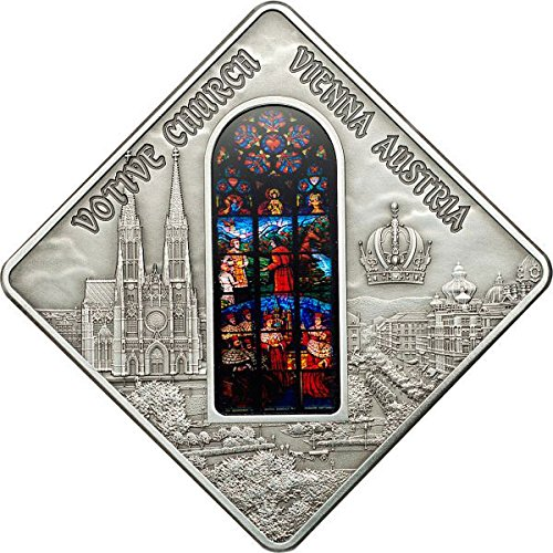 Power Coin Votive Church Vienna Holy Windows Silber Münze 10$ Palau 2012
