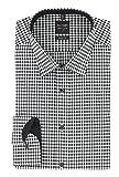 OLYMP Herren Business & Freizeit Hemd Serie Level Five Body Fit mit New York Kent Kragen Schwarz mit Muster, Grösse:38