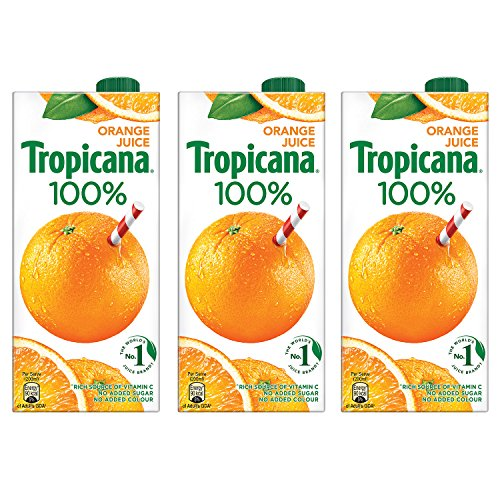 Tropicana Orange 100% Juice 1L (Pack of 3)