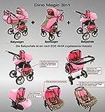 Chilly Kids Dino Kombikinderwagen (Regenschutz, Moskitonetz, Schwenkräder) 01 Schwarz & Weiß - 2