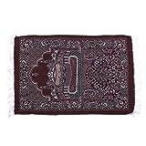 Kicode Muslimisches Gebet Teppiche Samt Dickes Gewebe Klassisch Islammatte Mehrfarbiger türkischer Teppich Salat Islamisch