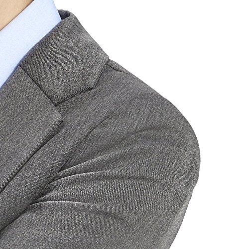 ALLBOW, Grauer Damen Blazer mit Ellenbogen-Patches optional, Baumwoll-Blazer Grau ohne Patches