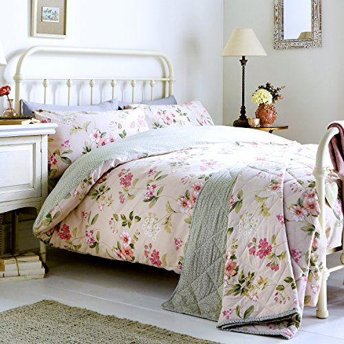 DREAMS AND DRAPES Dreams & Drapes - Lorena - Easy Care Duvet Cover Set - Double, Blush Best Price and Cheapest