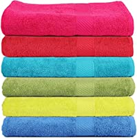 Trident 400 GSM Soft SPA Bath Towels, 60 X 120cm (Set of 6)(Multicolor)