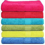 #6: Trident 400 GSM Soft SPA Bath Towels, 60 X 120cm (Set of 6)(Multicolor)