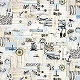 Fabulous Fabrics Dekostoff Baumwolle 2 – Ostsee — Meterware ab 0,5m — zum Nähen von Kissen und Tagesdecken, Tischdekorationen und Taschen