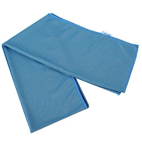 Hihill asciugamano rinfrescante sport in microfibra ultra sottile, leggera per fitness multifunzione 30* 120cm (tl-c1, blue)