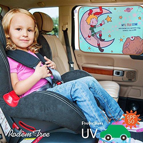 Preisvergleich Produktbild Auto Sonnenblenden für Kinder - Auto-Sonnenschutz für Seitenfenster (1 Stück) - Schutz vor schädlichen UV-Strahlen, Baby Autosonnenschutz passt Universell (little star)