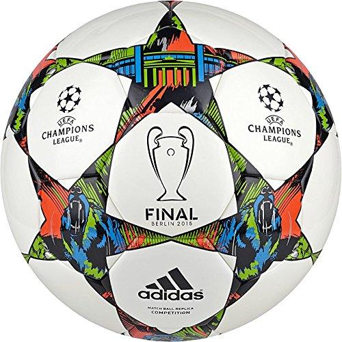 adidas League Finale 15 Competition - Balón de fútbol, primavera/verano, color blanco - White/Solar Blue2 S14/Flash Green S15, tamaño 54 x 36 x 1 cm, 11 L