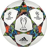 Adidas League Finale 15 Competition - Balón de fútbol, Primavera/Verano, Color Blanco - White/Solar Blue2 S14/Flash Green S15, tamaño 35 x 22 x 28 cm, 35 L