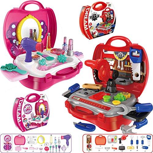 Preisvergleich Produktbild Beauty-Koffer SET (21-teilig) Kinder Schmink Kosmetik Frisier Koffer (Beauty-Set Koffer)