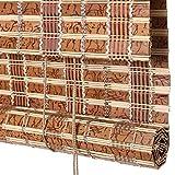 Bambusrollo, Bambus Rollläden für Fenster, Türvorhang Trennwand Rollos Sonnenschutz Sonnenschutz Jalousien Retro Vorhang (größe : 45×150cm)