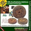 20 St. Jiffy® von GREEN24 Original Quell-Tabletten Torf-Quelltöpfe Aussaaterde Anzuchterde Torftablette mit Anleitung (St./0,15 EUR) von GREEN24 bei Du und dein Garten