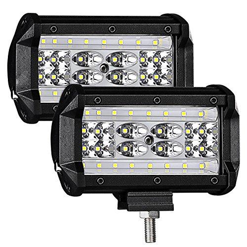 Arbeitsscheinwerfer, LTPAG 2 x 168W LED Arbeitsscheinwerfer 5 Zoll 16800LM 6000K IP68 Wasserdicht Offroad Scheinwerfer Arbeitslicht mit 56 LEDs Zusatzscheinwerfer Bar Car LED Spotlight 4 Reihen Worklight (Led-scheinwerfer Wasserdichte)