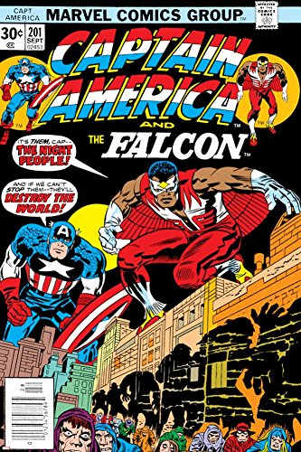 PALOMA NIEVES Captain America and The Falcon No.201 Cover: Captain America and Falcon Crouching Poster by Jack Kirby 24 x 36in -