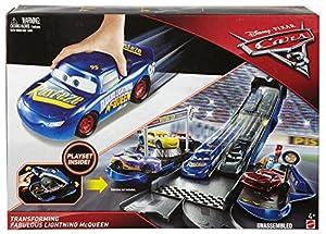 Cars Supertransformación Epilogue Vehículo Rayo McQueen, coche de juguete (Mattel FCW06)