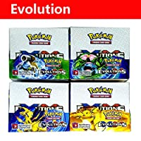 OUYAWEI Portable For Pokemon English Edition Card 324 photos Evolution 8+1