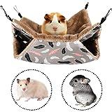 FANDE Hamaca para Animales Pequeños, Hamaca Pequeña para Mascotas, Doble Capa, Jaula para Hámster Accesorios, Hamaca para Lor