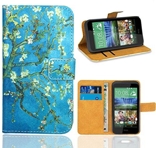 FoneExpert® HTC Desire 320 Handy Tasche, Wallet Case Flip Cover Hüllen Etui Ledertasche Lederhülle Premium Schutzhülle für HTC Desire 320