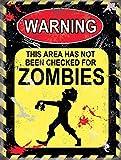 Warning Signs Warning Zombies Fun Blechschild Warnschild - Grösse 15x20 cm