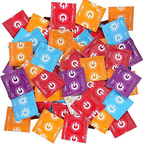 100 ON) Préservatifs de marque – Mélange – 5 sortes Topmix à prix économique.