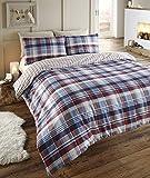 Angus - Juego de ropa de cama de franela para cama doble, funda nórdica y 2 fundas de almohada,...