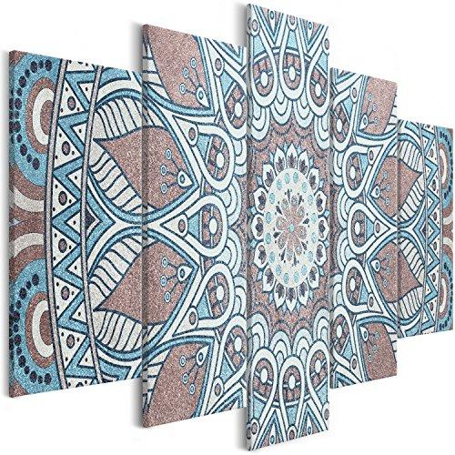 murando - Cuadro en Lienzo Mandala 200x100 cm - Impresion en Calidad fotografica - Cuadro en Lienzo Tejido-no Tejido – 5 Partes – Oriente f-A-0671-b-m