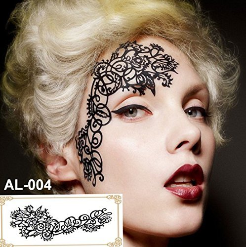 Party Augen Make-up Tattoo Spitze Aufkleber Halloween AL-004 Sticker Tattoo - FashionLife