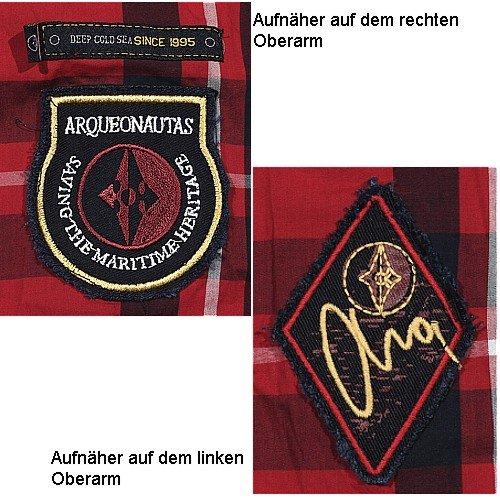 Arqueonautas, langarm Hemd, 705303, kirsche navy weiß kariert [9584] Kirsche