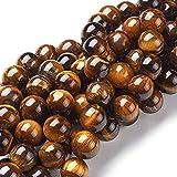 Tigerauge Edelstein Perlen 10mm ** A Grade ** Naturstein Rund Schmuckstein Gemstone Beads G75
