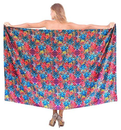 avvolgere sarong insabbiamento delle donne costume da bagno pareo abito gonna beachwear signore balneari rosa / blu
