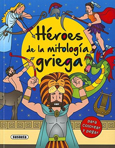 Héroes de la mitología griega para colorear y pegar por Susaeta Ediciones S A